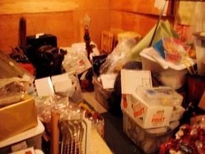 Basement junk room