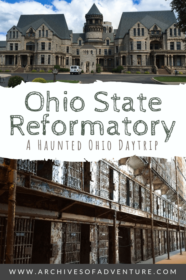 One of the best things to do in Ohio is visit The Ohio State Reformatory. It's perfect for Shawshank Redemption movie buffs and those who enjoy haunted places. #Ohio #OhioTravel #HauntedPlaces #HauntedOhio #OhioAttractions