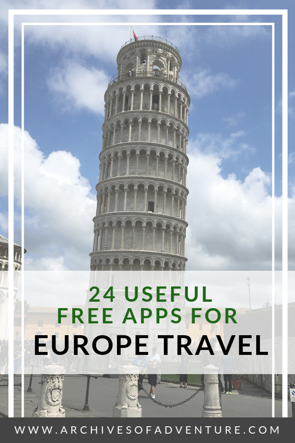 Planning a trip to Europe? Download these 20 helpful free apps for Europe travel! #Europe #EuropeTravel #TravelApps #TravelTech #EuropeTravelTips