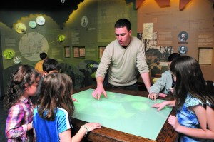 Public history student teaching elementary schools students.