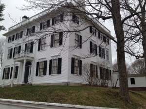 Rundlet May House, a federal-style house in Portsmouth New Hampshire, built in 1807.