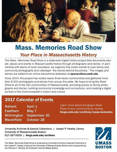 Mass Memories Roadshow: Upcoming Events