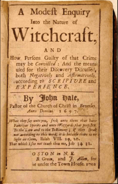 Rev. John Hale's describes the moments before Alice's execution in his MODEST INQUIRY (1702). Hale is best known for his support of the Salem witch trials.