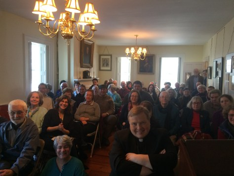Audience at Dorchester Historical Society, Feb. 19, 2017. Many were Dorchester residents eager to hear about their local history.