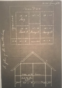 Blueprint of Mary Daüble's house.