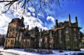 Fonthill Castle, Doylestown, PA. Unaltered photograph by James Loesch, https://www.flickr.com/photos/jal33/5437285992