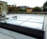 copertura vetrata apribile - lucernario in vetro scorrevole