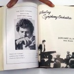 Famed violinist, Itzhak Perlman, guest artist at the Wheeling Symphony, January 27, 1972