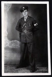 "Andrew ""Pepper"" Kramer, Military Police, U.S. Army, 1943."
