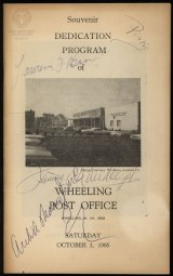 Wheeling Post Office dedication program (OCPL Archives).