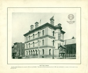 The Custom House as it looked in 1905 before it was restored and reborn as West Virginia Independence Hall Museum. From Souvenir of Wheeling, OCPL Archives.
