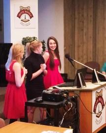 Maria Martik, Vanessa Martik, and Rebecca Wockley present at the Ohio County Library.