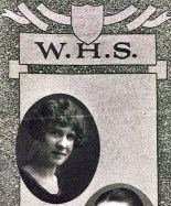"This image of Myrtle Monique Harness comes from Wheeling High School's ""The Record."" Myrtle graduated in 1925. The yearbook, available in the Ohio County Public Library's Wheeling Room, features a short poem mentioning Myrtle's wonderful persona."