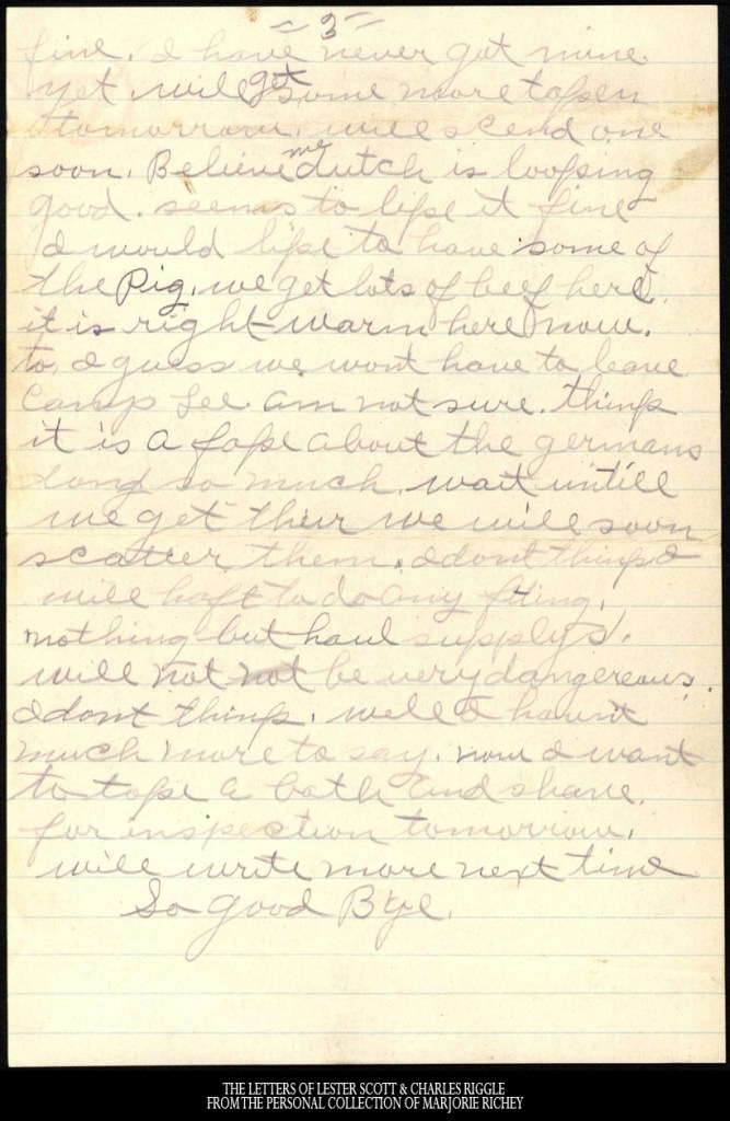 November 2, 1917: From Camp Lee to the Great War: The Letters of Lester Scott and Charles Riggle - From the personal collection of Marjorie Richey
