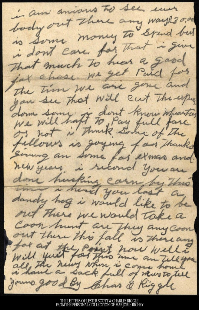 November 24, 1917: From Camp Lee to the Great War: The Letters of Lester Scott and Charles Riggle - From the personal collection of Marjorie Richey