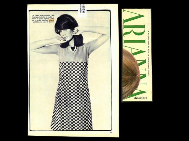 1965 ARIANNA Tunica in maglia laminata