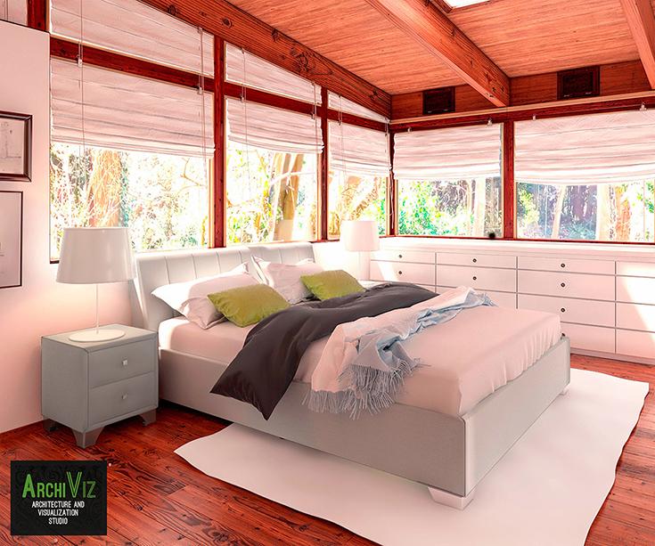 Моделирование спальни RELAX