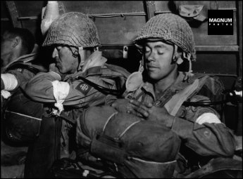 ICP 505 July 9, 1943. American paratroopers flying from Kairouan (Tunisia) to Sicily.