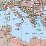 Gran Italia. Marrón, proyecto pre-guerra, Verde, Ocupación en la segunda guerra mundial