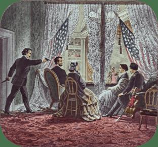 Representación del asesinato de Abraham Lincoln