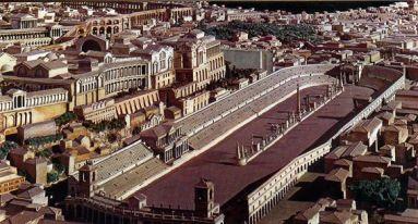 Reconstrucción del circo máximo romano