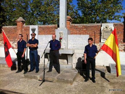 Homenaje de la Falange a Ledesma