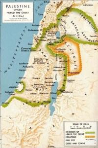 Mapa del reinado de Herodes