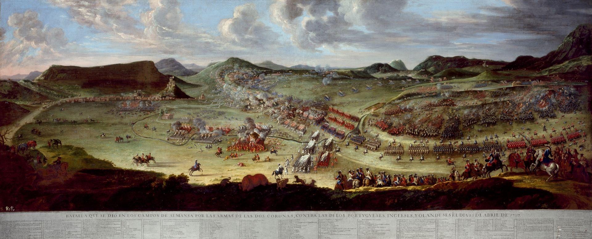 Batalla de Almansa. Pallotta Filippo, Ligli Buonaventura, 1721. Museo del Prado