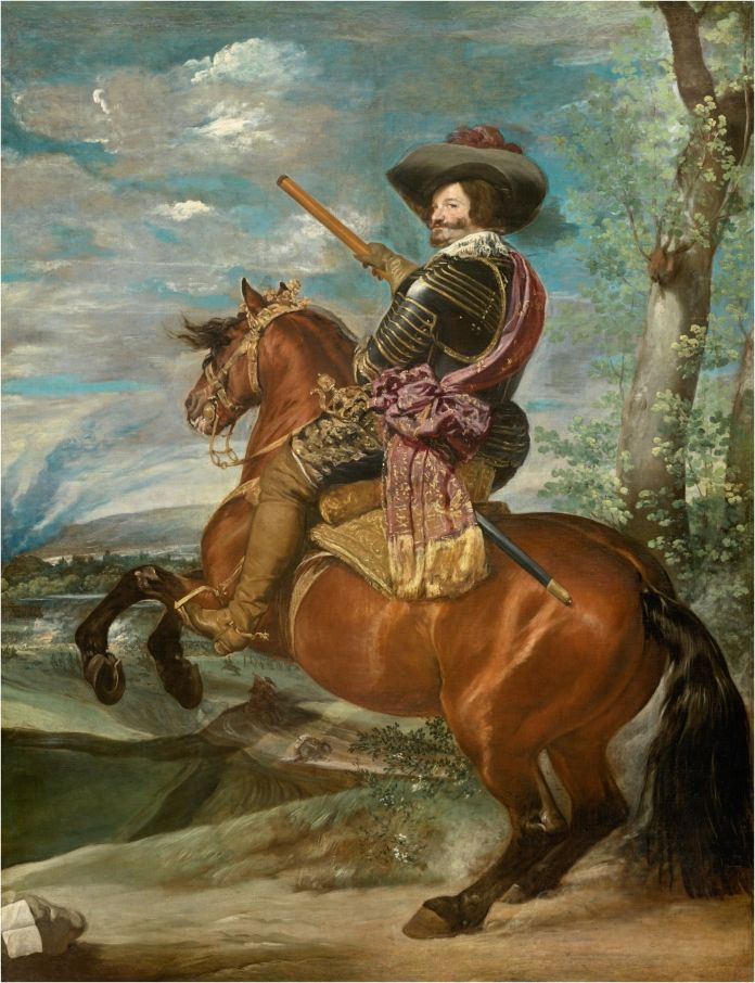 """Gaspar de Guzmán, conde-duque de Olivares, a caballo"" Velázquez, 1636, Museo del Prado, Madrid."