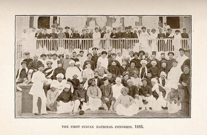 Miembros fundadores del Congreso Nacional Indio.