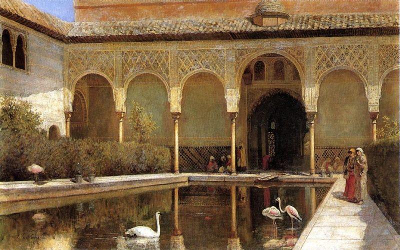 La corte de la Alhambra durante el gobierno de los moros (1876) Edwin Lords Weeks