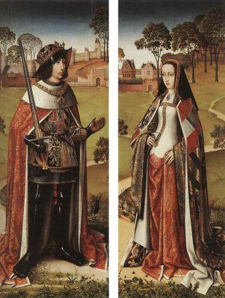 Felipe el Hermoso y Juana la Loca en los jardines del castillo de Bruselas