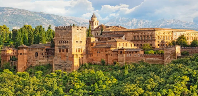 Vista actual de la Alhambra de Granada