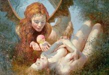 Lilith y Eva. (1973). Yuri Klapouh, Museo de Arte Occidental y Oriental de Kiev