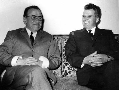 Ceaușescu junto al secretario general del PCE, Santiago Carrillo (10 de mayo de 1970). Archivo Nacional de Rumanía (Fototeca online a comunismului românesc, cota 66/1970).