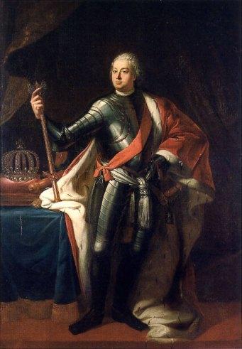 Cuadro de Samuel Theodor Gericke (1713). En pocas pinturas podrá verse a este monarca sin su atuendo militar.