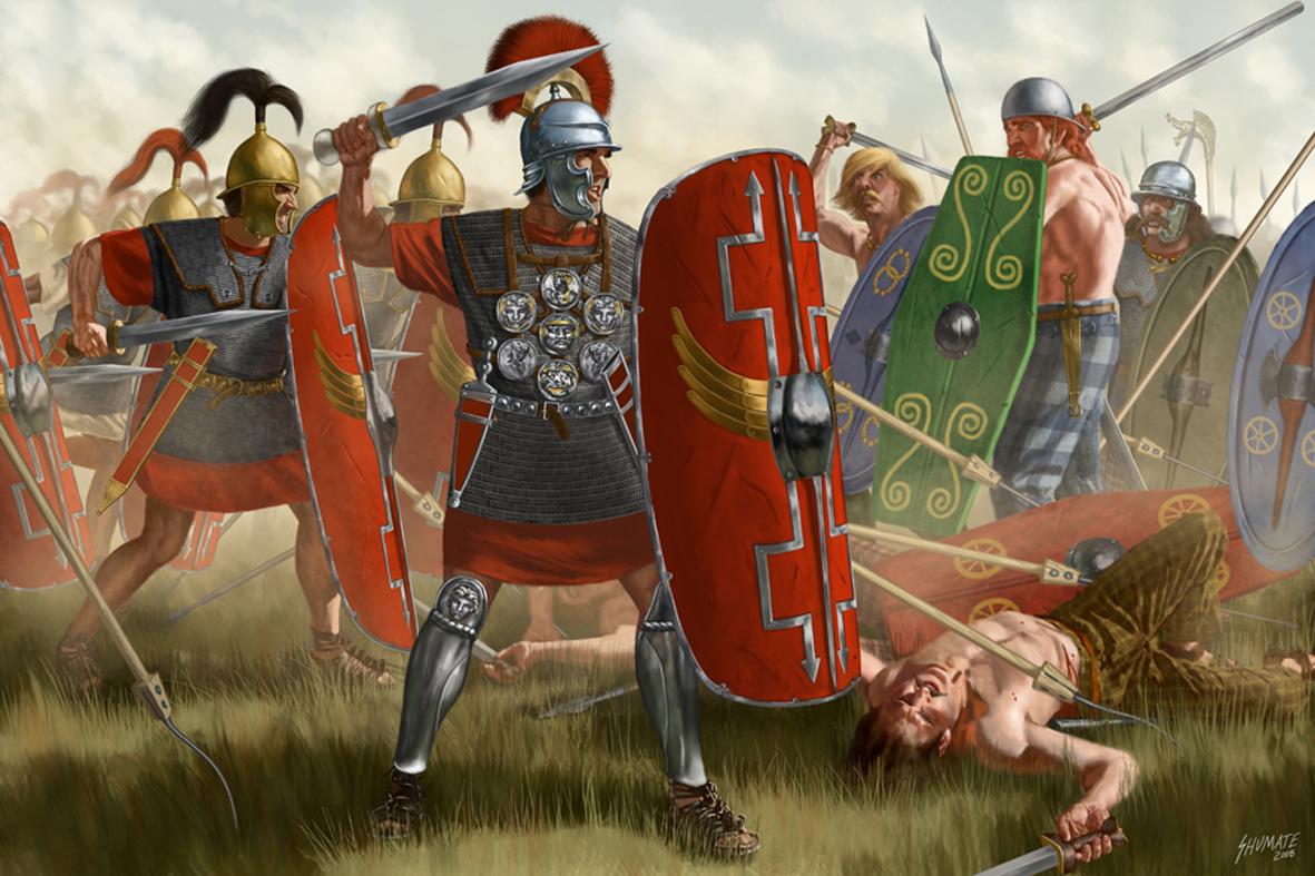 Legionarios en batalla