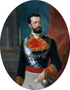 Retrato de Amadeo I hacia 1871. Amadeo de Saboya sufrió uno de los primeros atentados anarquistas de finales del siglo XIX