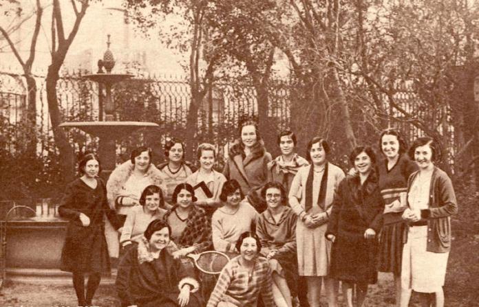Conjunto de alumnas de la Residencia de Señoritas en el edificio de la calle Fortuny, 53 (1930)<br /> (Desconocido) | Arte en Madrid