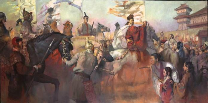 El retorno de Zhang Qian a China después de su expedición.