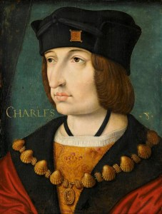 Pintura del rey Carlos VIII de Francia