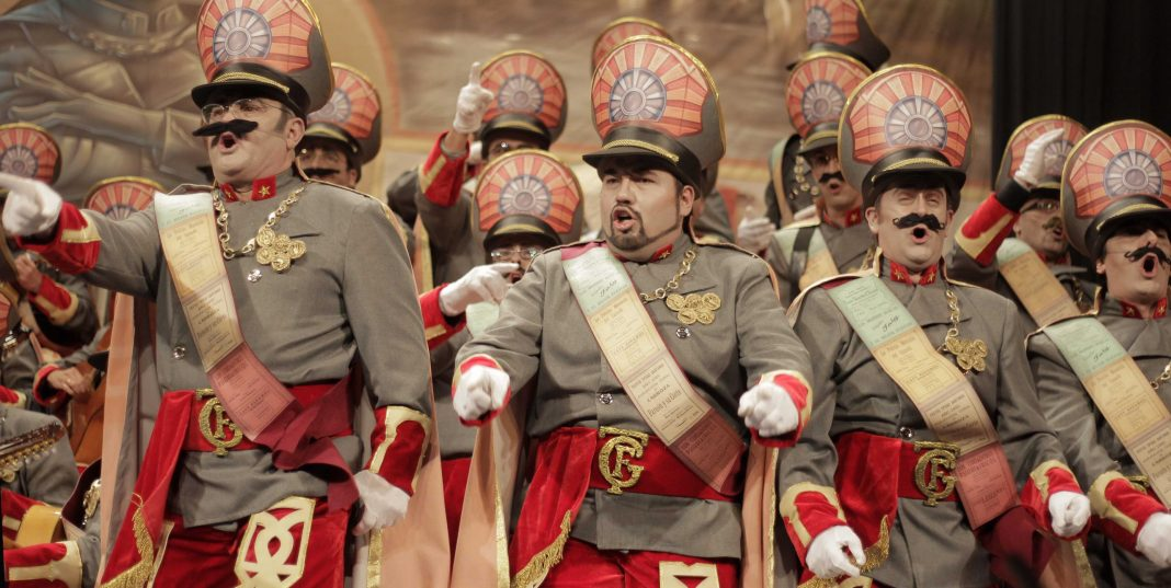 Parodia de unos dictadores en el Carnaval de Cádiz