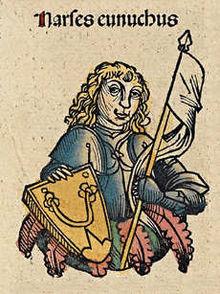 Narsés el eunuco según la crónica de Nuremberg