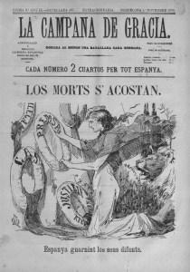 Portada de La Campana de Gràcia, del primero de noviembre de 1878 | Wikimedia