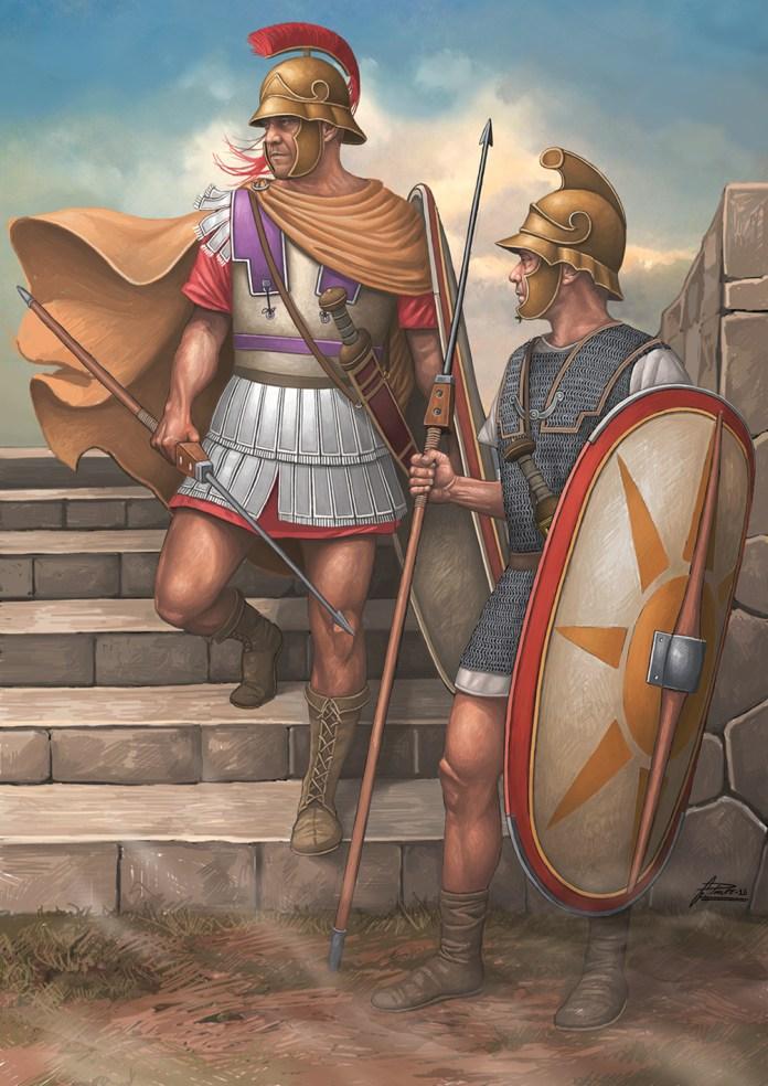 Thorakitai: Infantería modelo legionario de Mitridates de Ponto. Autor: Ángel García Pinto | Legión contra falange