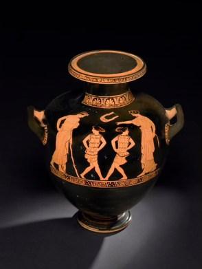 Escena de danza en figuras rojas. Periodo clásico. British Museum.