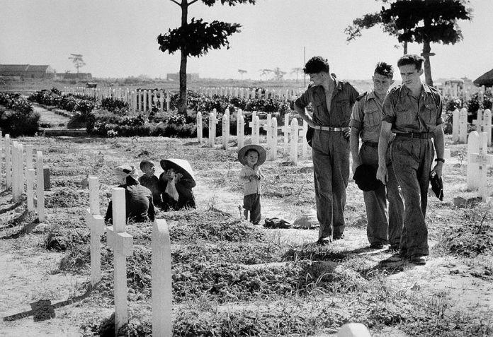 Soldados durante la Guerra de Indochina. 1954.