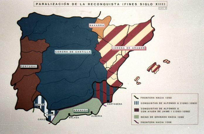 Mapa político de la España del siglo XIII (s/f)