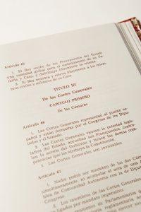 Texto original de la Constitución de 1978. Federico Reparaz (Archivo del Congreso de los Diputados)