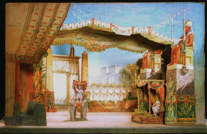 Teatrín de Francesc Soler i Rovirosa, para la ópera Aida, de Giuseppe Verdi, representada en el Teatro Principal de Barcelona el 16 de abril de 1876.